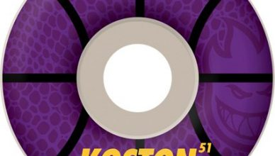 -Limited-Edition Koston X LAKERS Inspired F1 Spitfire wheel.