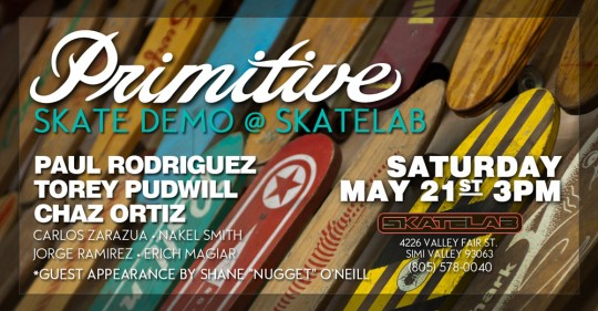 primative skate lab demo event