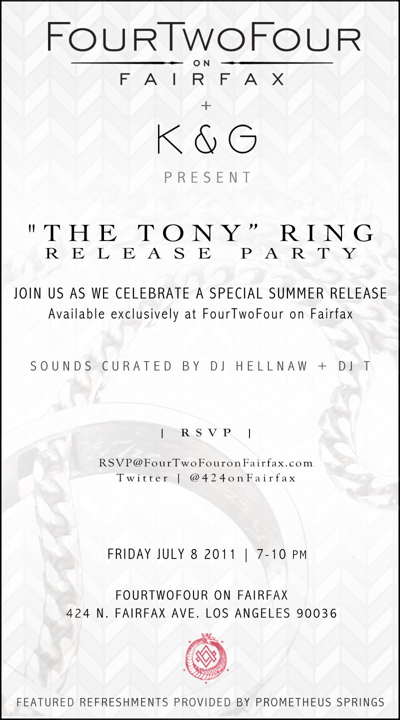 FourTwoFour on Fairfax Tony Ring Launch Party